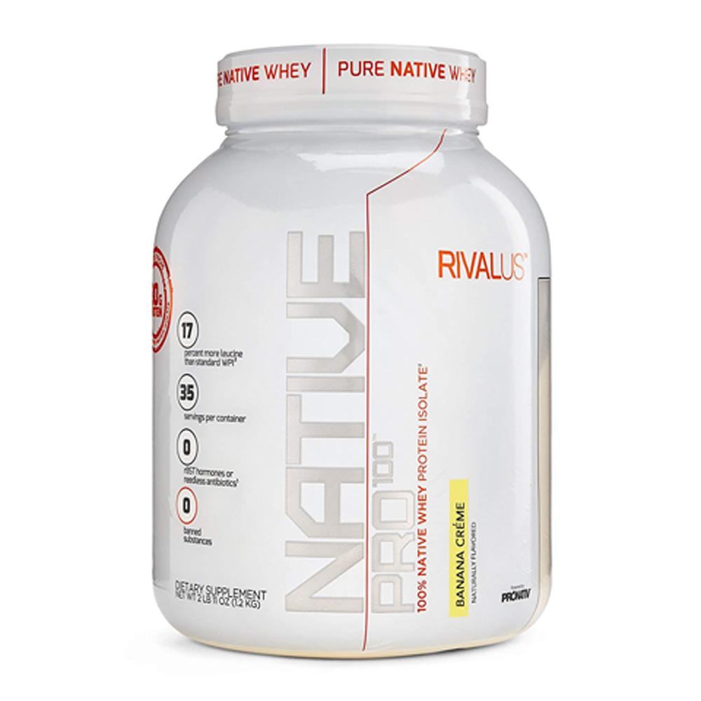 Rivalus Native Pro 100 1.2Kg Protein Powders Rivalus Banana Cream  (1722638827563)