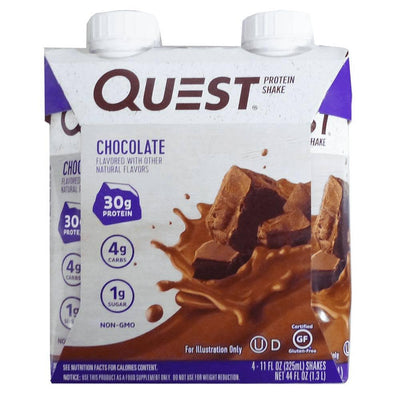 Quest Nutrition RTD Protein Shake 4/Pack Drinks Quest Nutrition Chocolate 12pk  (4169019686955)
