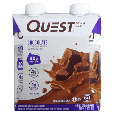 Quest Nutrition RTD Protein Shake 4/Pack Drinks Quest Nutrition Chocolate  (4169019686955)
