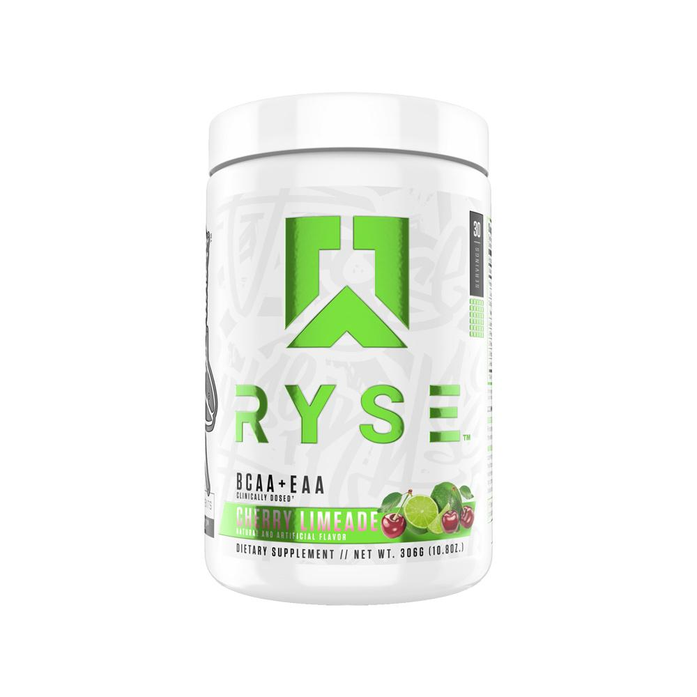 Ryse BCAA + EAA 30 Servings Amino Acids Ryse Supplements Cherry Limeade  (4451575562305)