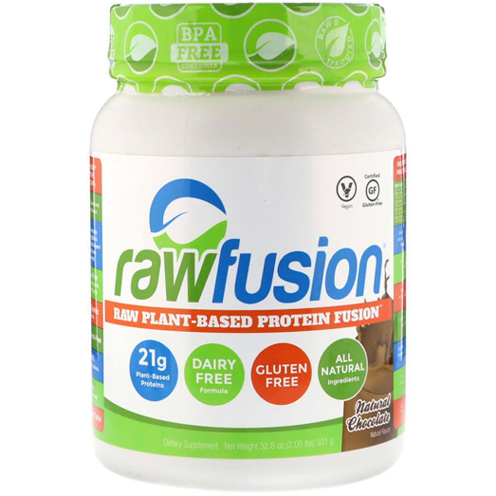 San Raw Fusion 15/Servings Natural Chocolate Protein Powders SAN  (4392945745985)