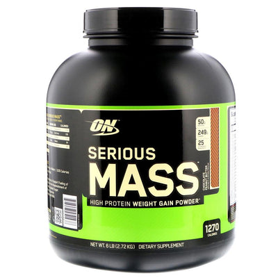 Optimum Nutrition Serious Mass 6lbs | Weight Gainer Protein Powders Optimum Nutrition Chocolate Peanut Butter  (1796709384235)
