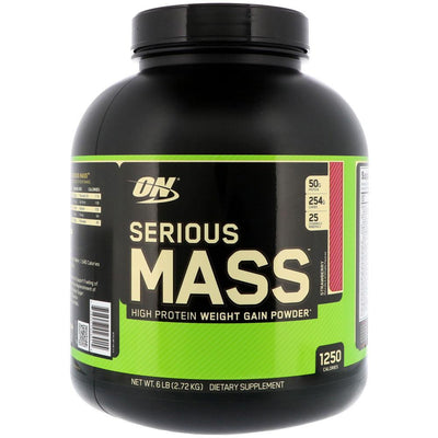 Optimum Nutrition Serious Mass 6lbs | Weight Gainer Protein Powders Optimum Nutrition Strawberry  (1796709384235)