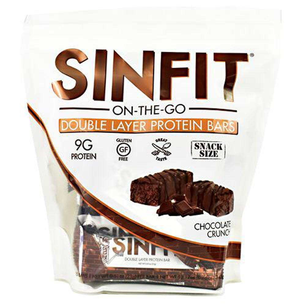 SinFit Snack Size Protein Bars 15/Bag | Protein Snack Bars Bars Sinister Labs Chocolate Crunch  (1810004377643)
