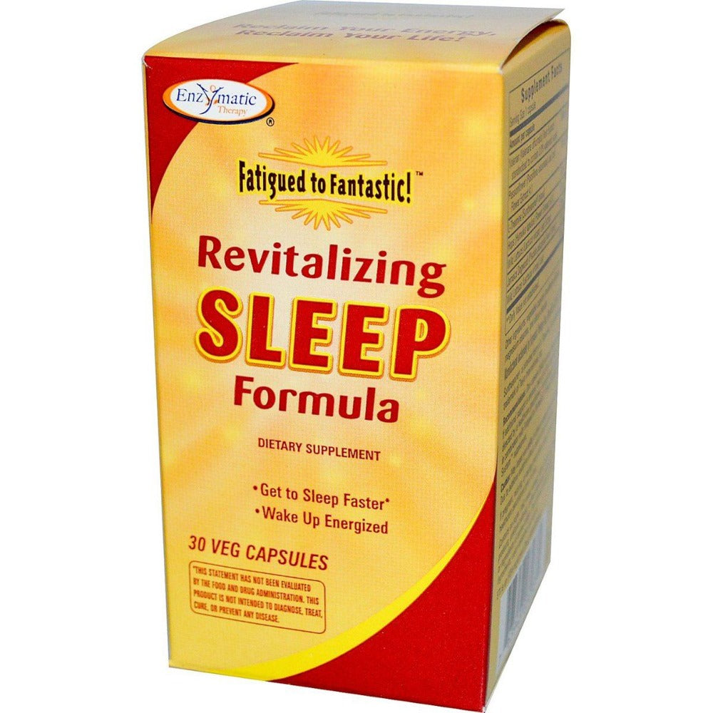 Enzymatic Therapy Fatigued to Fantastic! Revitalizing Sleep Formula 30 Caps Other Supplements Enzymatic Therapy  (1057968455723)