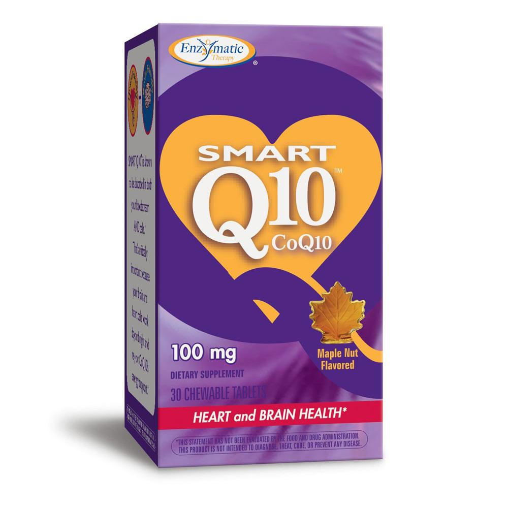 Enzymatic Therapy Smart Q10 CoQ10 100mg 30 Chews Maple Nut | Heart & Brain Health Specialty Health Products Enzymatic Therapy  (1770308730923)