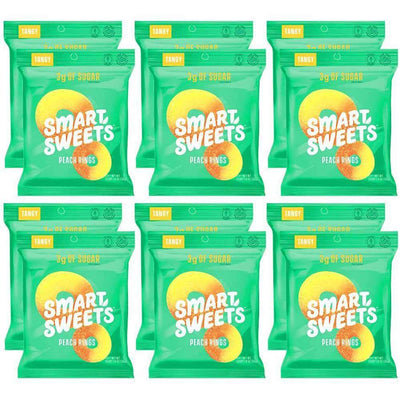 Smart Sweets Gummy Bears 12/Box Foods & Snacks Smart Sweets Tangy Peach Rings  (1425607426091)