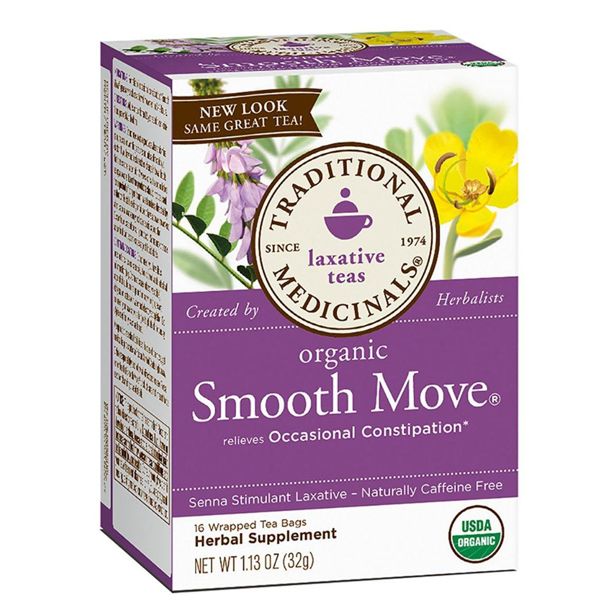 Traditional Medicinals Smooth Move Tea 16 Bags Teas Traditional Medicinals  (1057884340267)