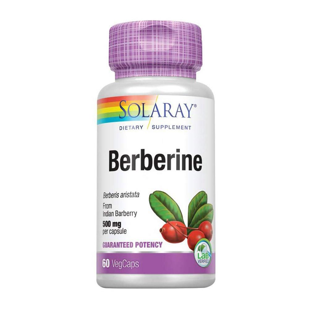 Solaray Berberine 500mg 60 Capsules Herbs Solaray  (4358311542849)