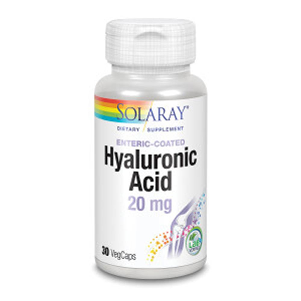 Solaray Hyaluronic Acid 20mg 30 Caps Other Supplements Solaray  (1057982349355)