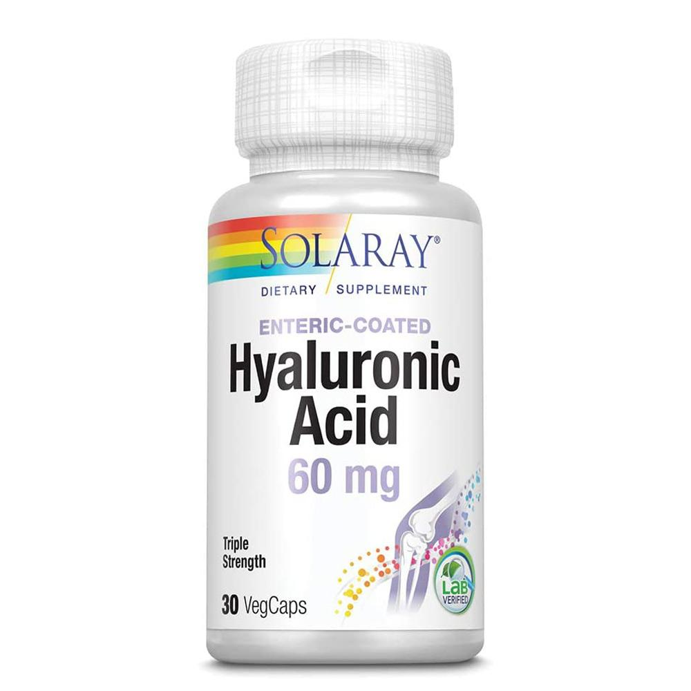 Solaray Hyaluronic Acid 3x Strength 60mg 30 Caps Joint Aids Solaray  (1058113978411)