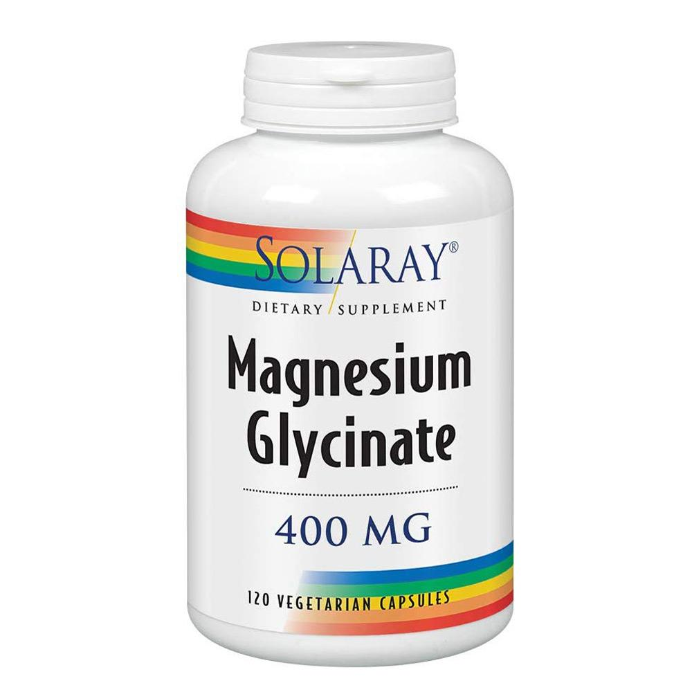 Solaray Magnesium Glycinate 120 Capsules Vitamins & Minerals Solaray  (1753760759851)