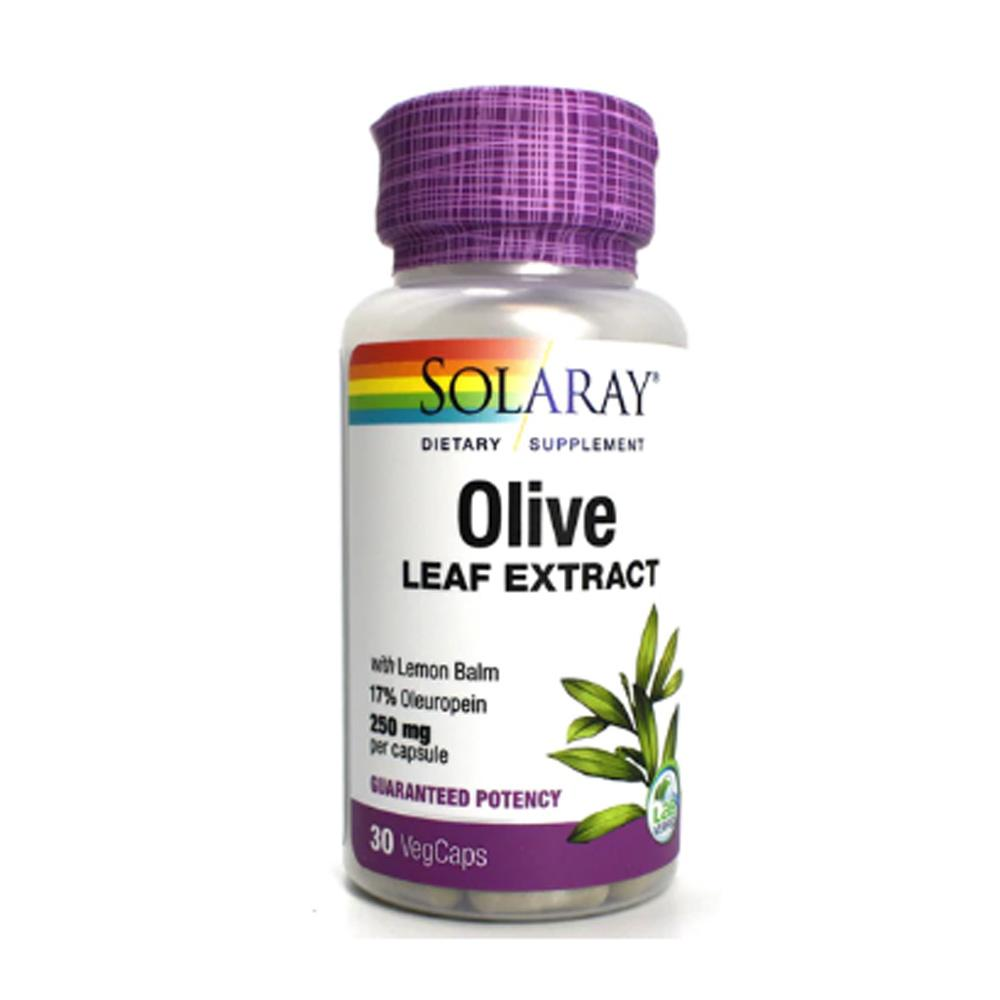Solaray Olive Leaf Extract 250mg 60 Capsules Herbs Solaray  (1057905115179)