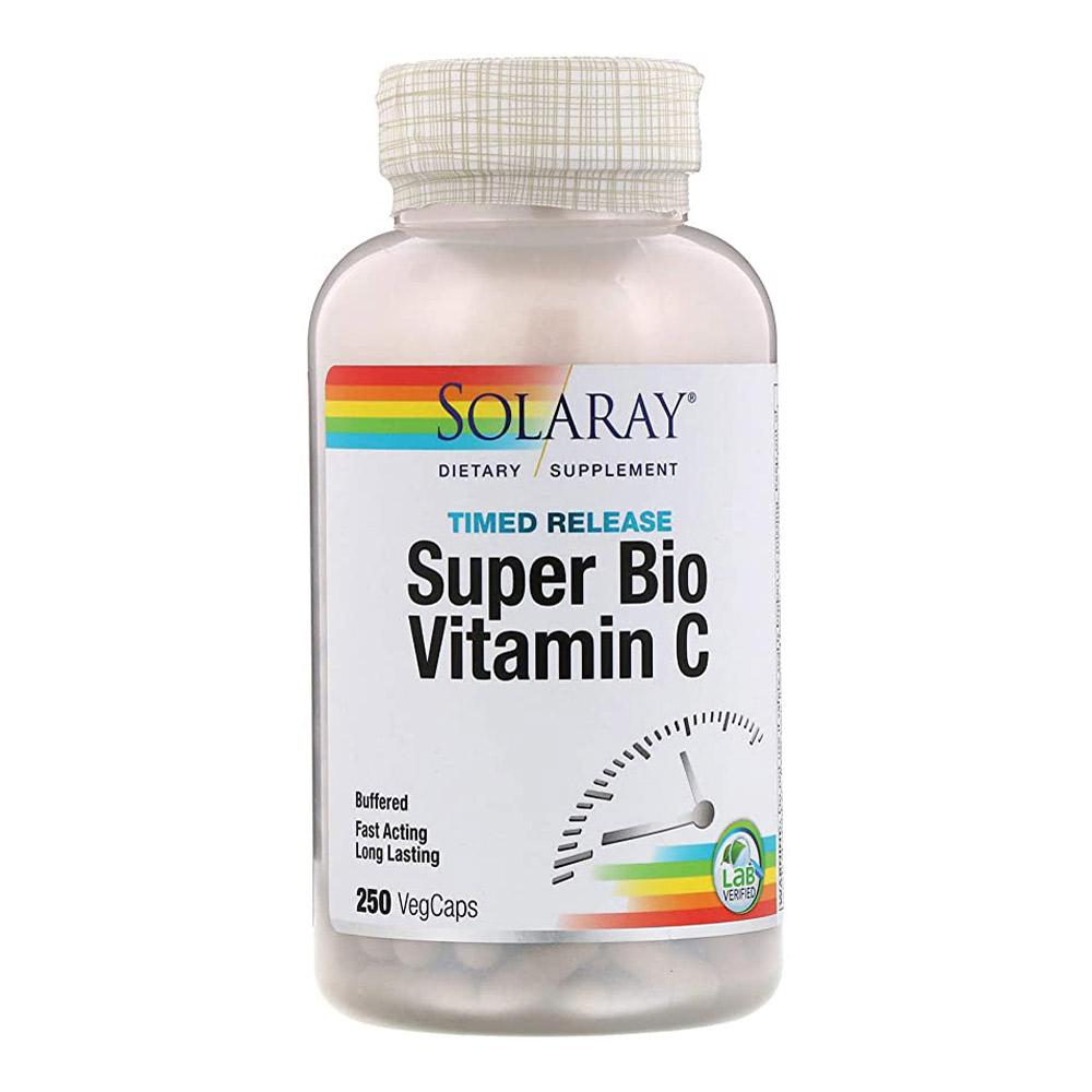 Solaray Super Bio Vitamin C Timed Release 1000mg 250 Caps Vitamins Solaray  (1057896661035)