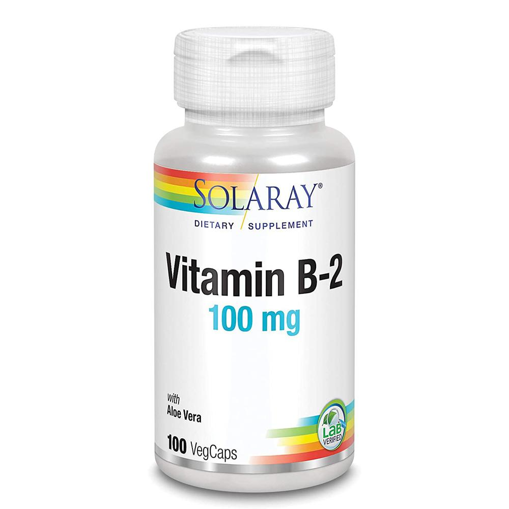 Solaray Vitamin B-2 100mg 100 Caps Vitamins Solaray  (1057895219243)