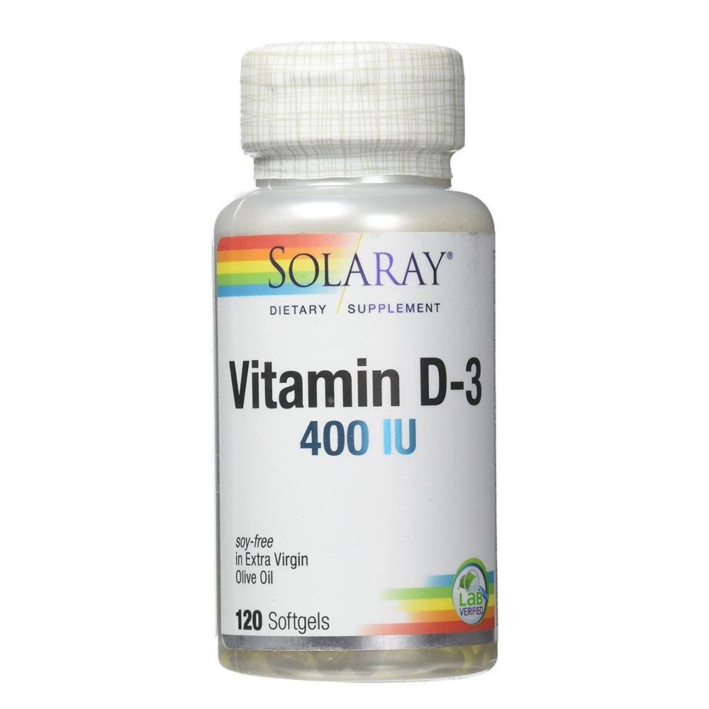 Solaray Vitamin D 400 IU 120 Softgels Vitamins Solaray  (1057981956139)