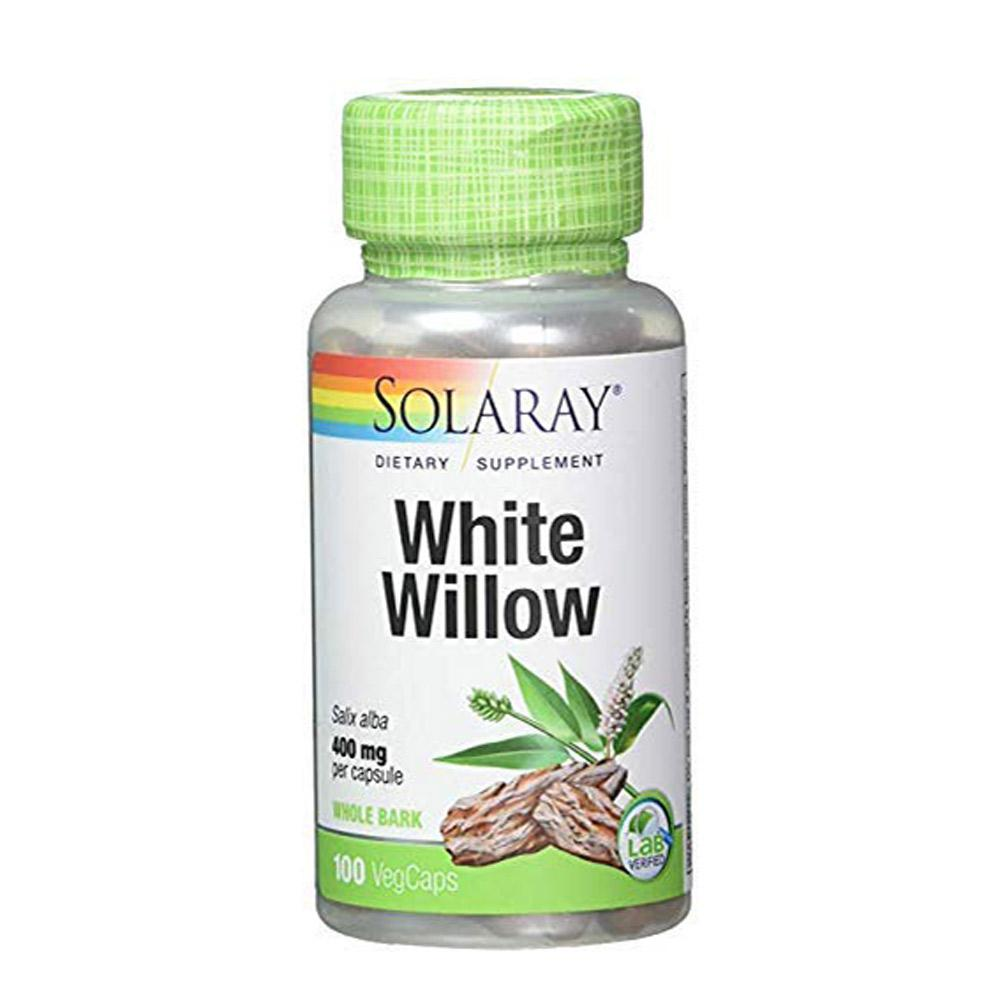 Solaray White Willow Bark 400mg 100 Caps Solaray  (1058714026027)