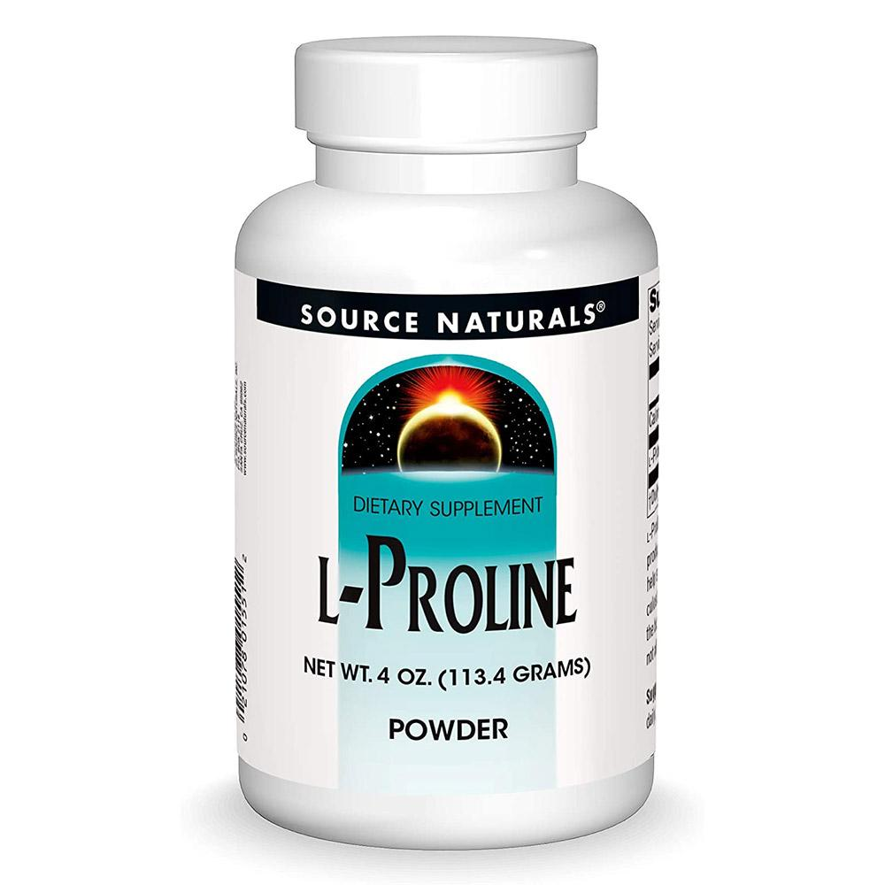 Source Naturals L-Proline Powder 4oz Amino Acids Source Naturals
