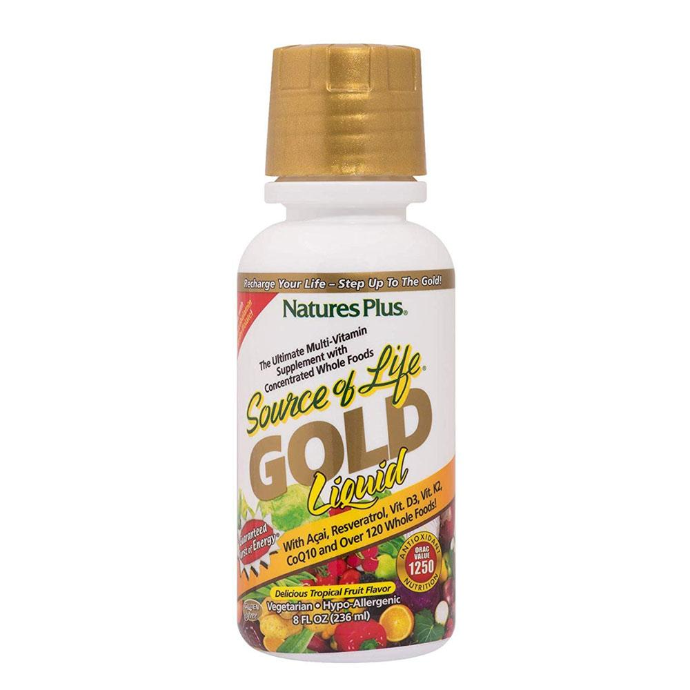 Nature's Plus Source of Life Gold 8oz Multi Vitamins Nature's Plus  (4094989926443)