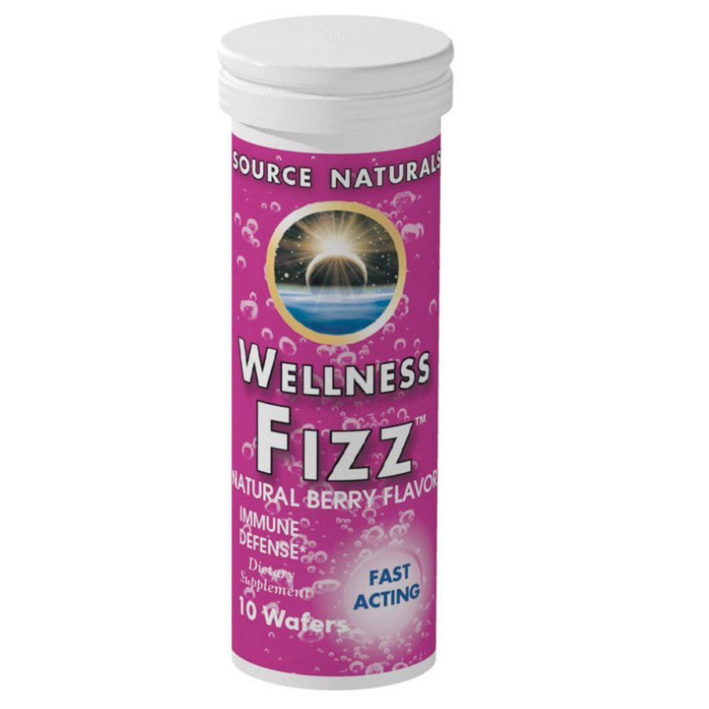 Source Naturals Wellness Fizz 10 Wafers Specialty Health Products Source Naturals Natural Tangerine  (1758752145451)