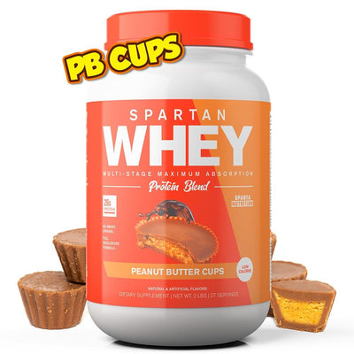 Spartan Whey 2lbs Protein Powders Sparta Nutrition PEANUT BUTTER CUP  (1677763248171)