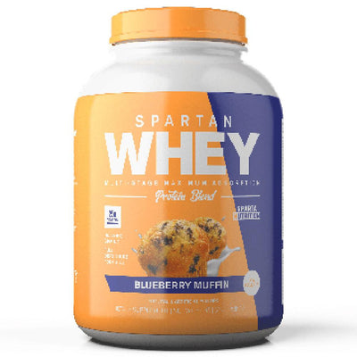 Spartan Nutrition Spartan Whey 2lbs Protein Powders Sparta Nutrition BLUEBERRY MUFFIN  (1677763248171)