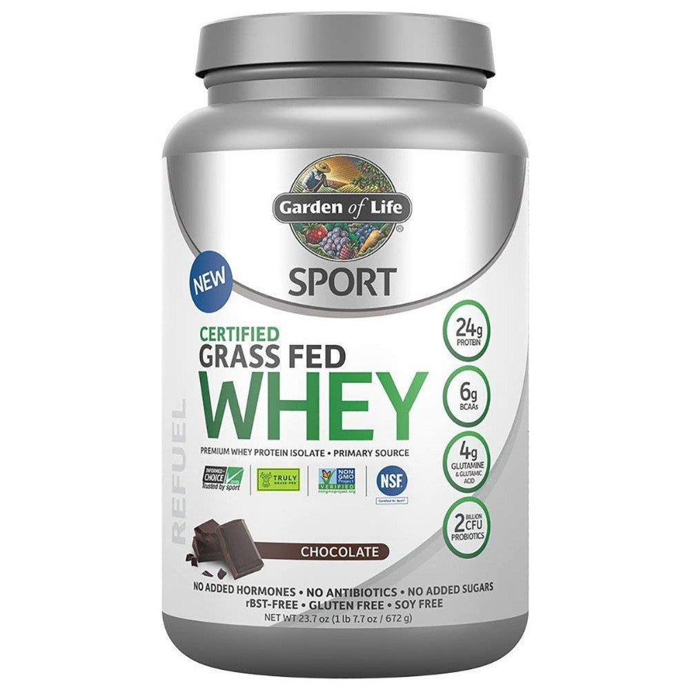 Garden Of Life Sport Grass Fed Whey 20 Servings Protein Powders Garden of Life Chocolate  (1441883357227)