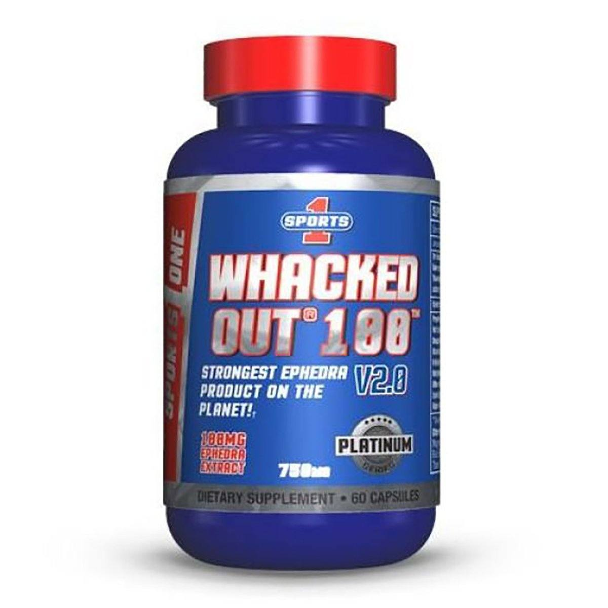 Sports 1 WHACKED OUT 100 60C Diet/Energy Sports One  (1059307159595)
