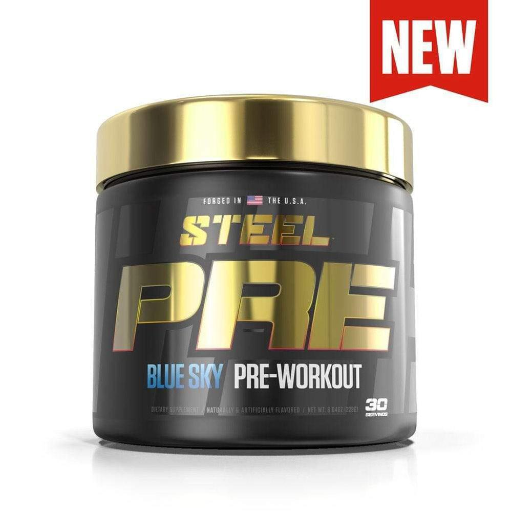 Steel PRE Pre-Workout 30 Serving Pre-Workouts STEEL Blue Sky  (4163354361899)