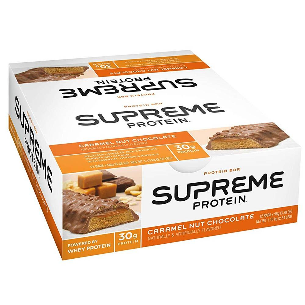 Supreme Protein Bar (CC) 12/BX Bars Supreme Protein Caramel Nut Chocolate  (1555694321707)