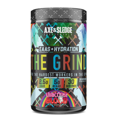 Axe & Sledge The Grind EAAs + Hydration | Branched Chain Amino Acids BCAAs Amino Acids AXE & SLEDGE UNICORN'S BLOOD  (1812332511275)