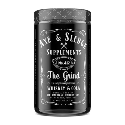 Axe & Sledge The Grind EAAs 30 Servings Amino Acids AXE & SLEDGE WHISKEY AND COLA  (1812332511275)
