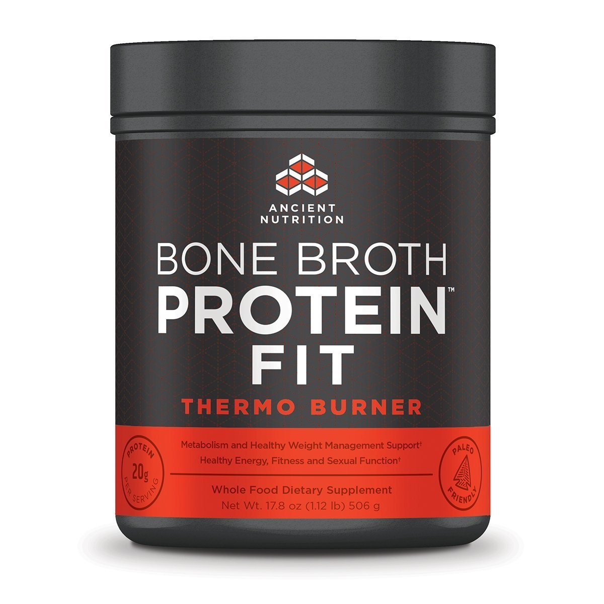 Ancient Nutrition Bone Broth Protein Fit Thermo Burner 20 Servings Diet/Energy Ancient Nutrition  (1059284779051)