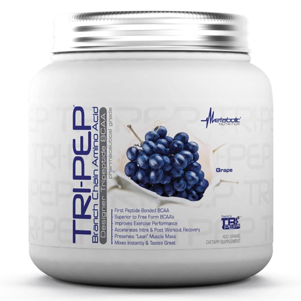 Metabolic Nutrition Tri-Pep 400 Grams Amino Acids Metabolic Nutrition Grape  (1058828681259)