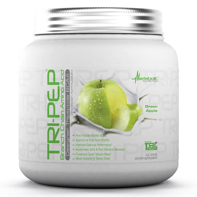 Metabolic Nutrition Tri-Pep 400 Grams Amino Acids Metabolic Nutrition Green Apple  (1058828681259)