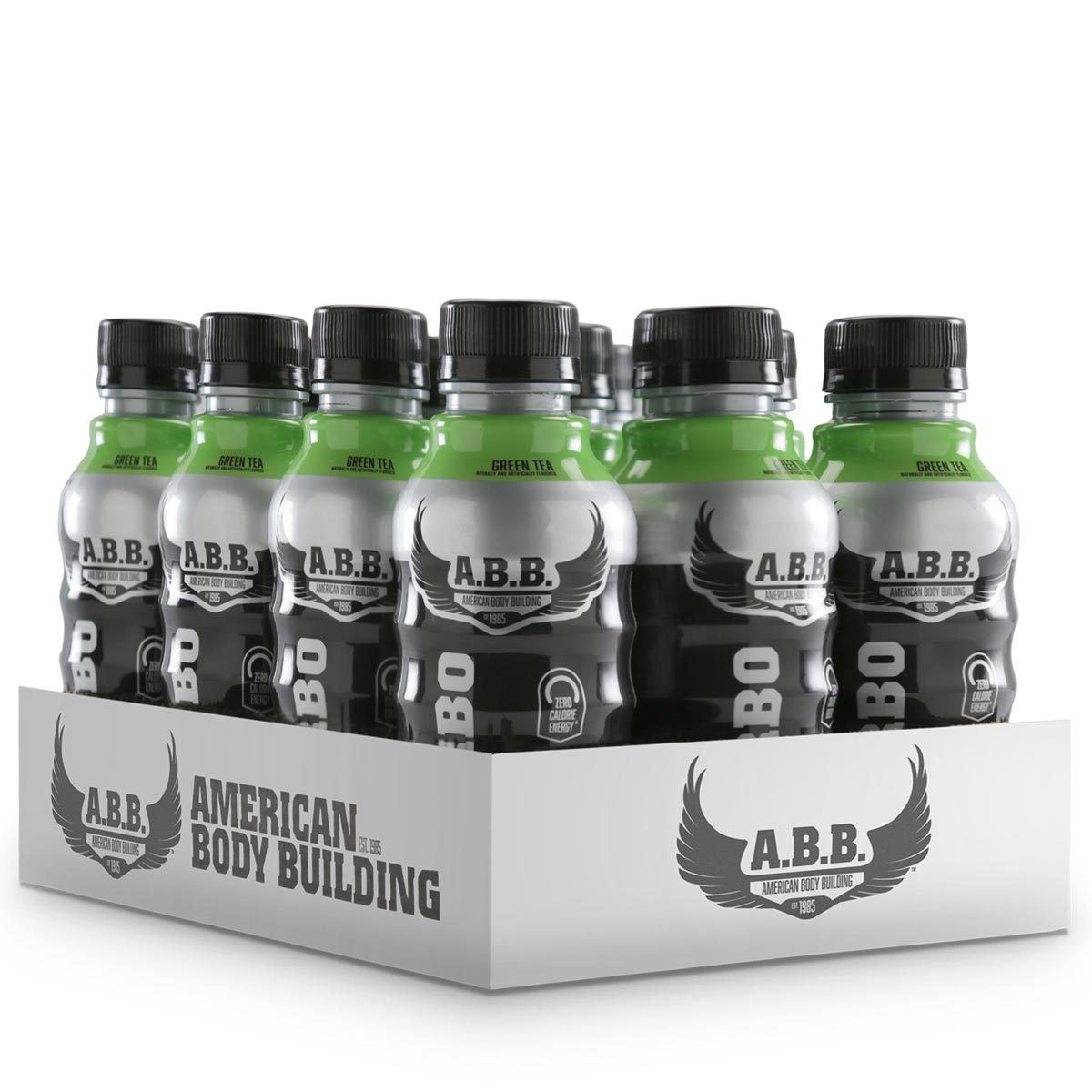 American BodyBuilding Turbo Tea Zero 12/Case Diet/Energy American BodyBuilding Green Tea  (1059099279403)