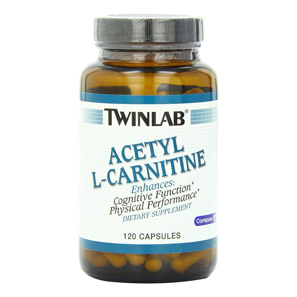 TwinLab Acetyl L-Carnitine 500mg 120 Caps Fat Burner Twinlab  (1759741149227)