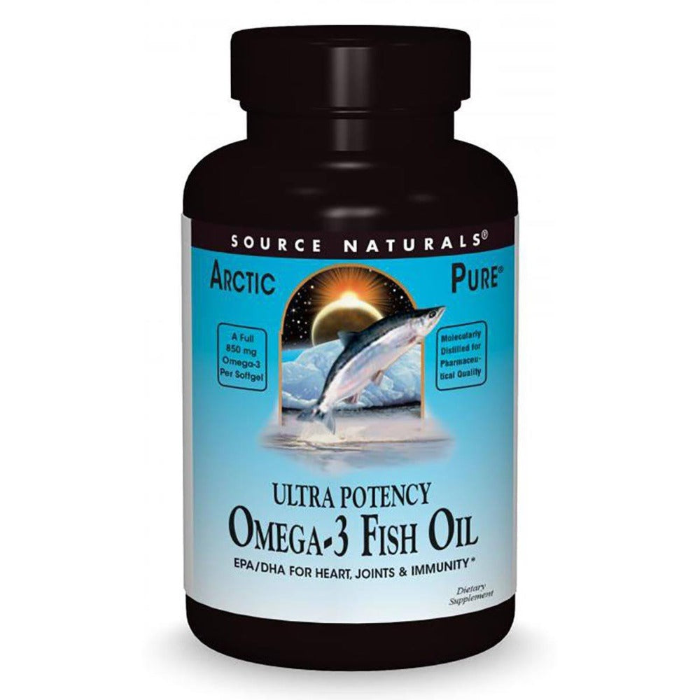 Source Naturals Ultra Potency Omega-3 Fish Oil 850mg 60 Gels Omega Fatty Acids / EFAs Source Naturals  (1058676867115)