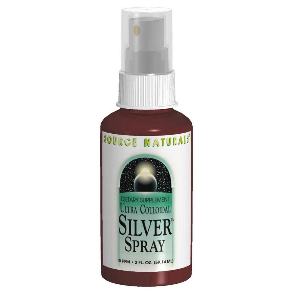 Source Naturals Ultra Colloidal Silver Throat Spray 2oz Minerals Source Naturals  (1057967702059)