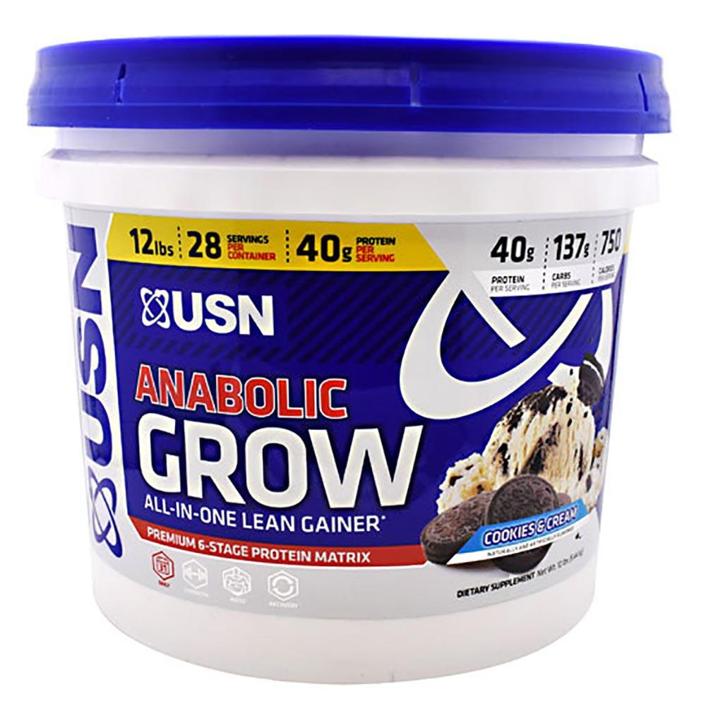 USN Anabolic Grow 12 LBS Protein Powders USN COOKIES AND CREAM  (1565492772907)