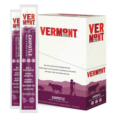 Vermont Meat Sticks 24/Box Foods Juices Vermont Smoked Meats Chipotle  (1797584617515)