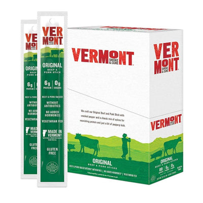 Vermont Meat Sticks 24/Box Foods Juices Vermont Smoked Meats Original  (1797584617515)