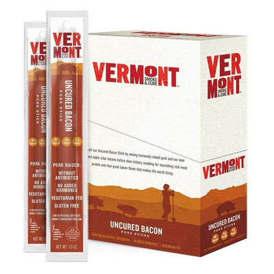 Vermont Meat Sticks 24/Box Foods Juices Vermont Smoked Meats Uncured Bacon  (1797584617515)