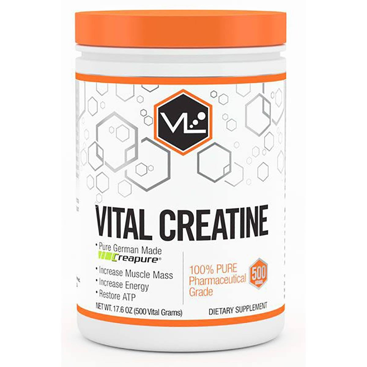 Vital Labs Vital Creatine 500 Grams Creatine Vital Labs  (1059046096939)