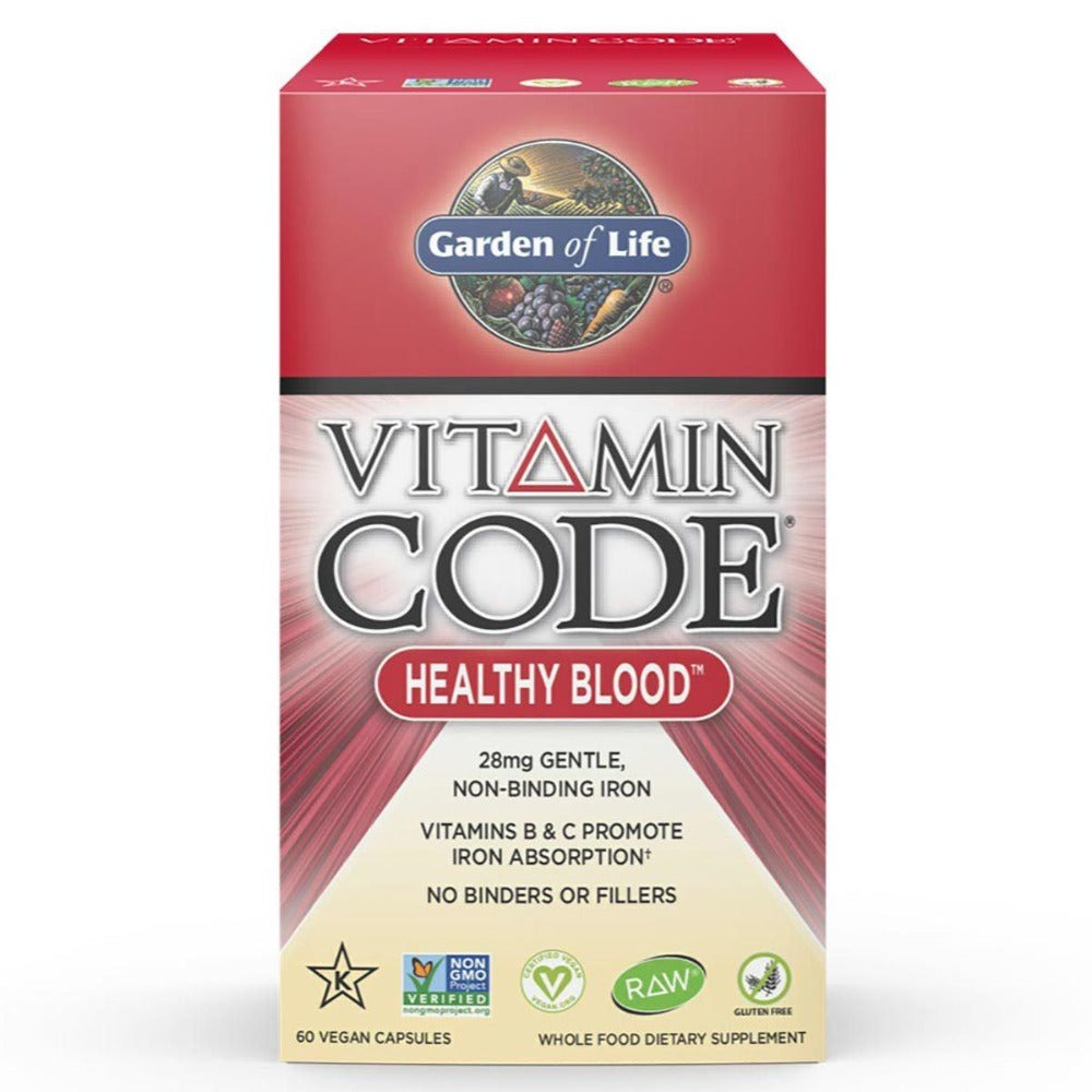Garden of Life Vitamin Code Healthy Blood 60 Vege Caps Minerals Garden of Life  (1058780676139)