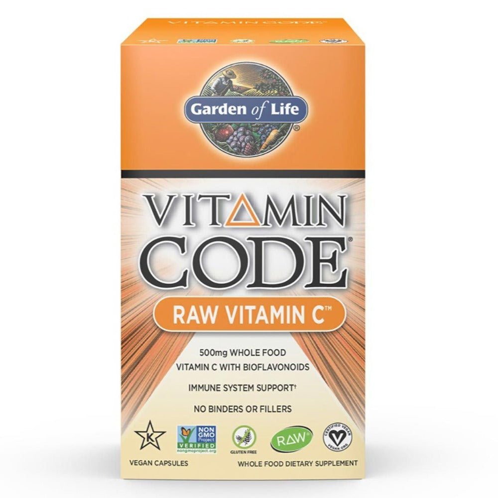 Garden of Life Vitamin Code Raw Vitamin C 60 Vege Caps Vitamins Garden of Life  (1058181644331)