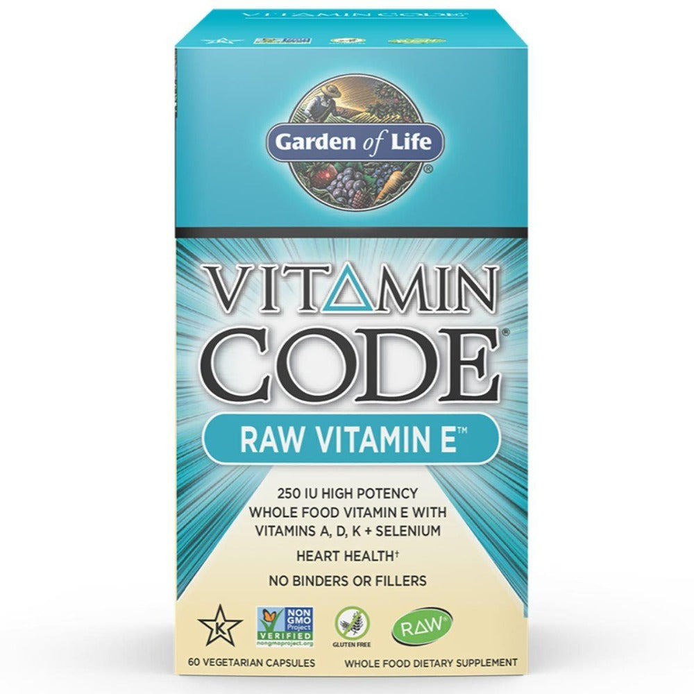 Garden of Life Vitamin Code Raw Vitamin E 60 Vege Caps Vitamins Garden of Life  (1058183446571)