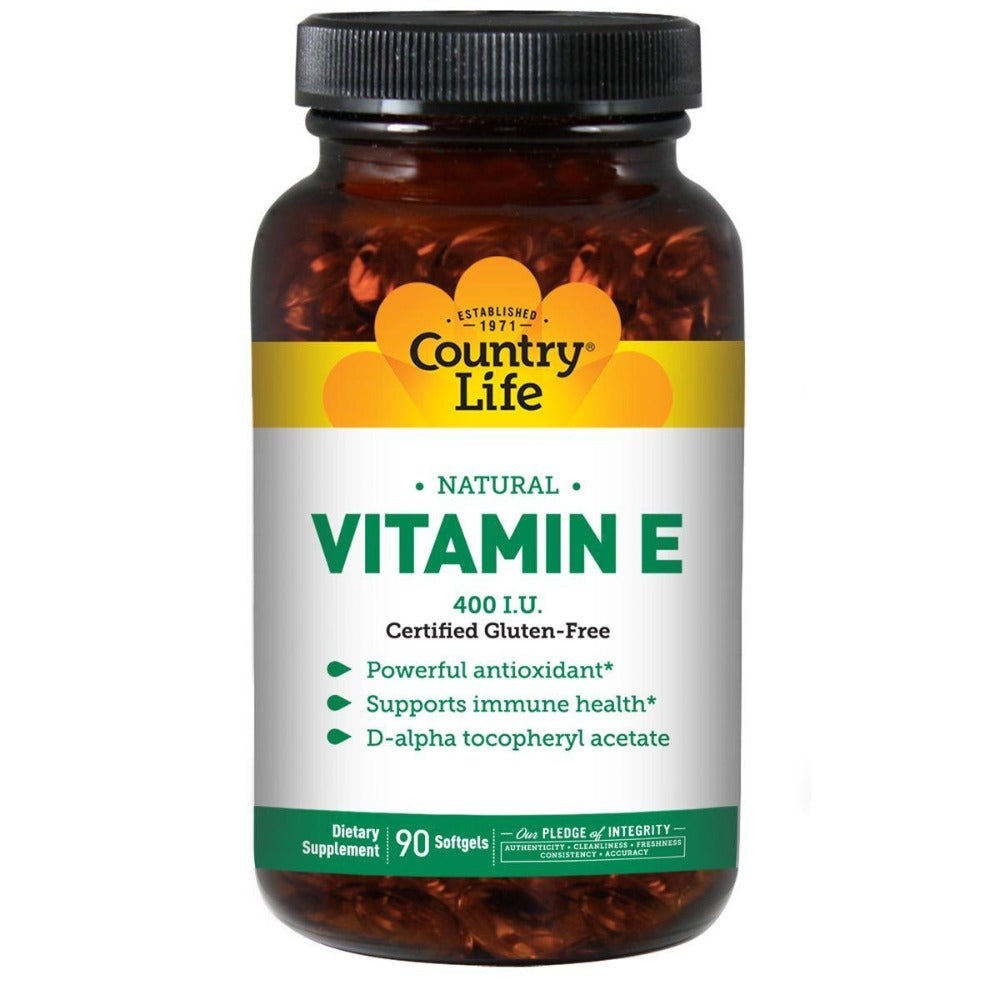 Country Life Natural Vitamin E 400 IU 90 Soft Gels Vitamins Country Life  (1057977729067)