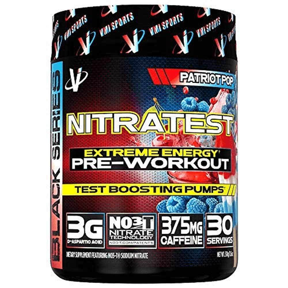 VMI Sports Nitratest 30 Servings Pre-Workouts VMI Sports Patriot Pop  (4362722738241)
