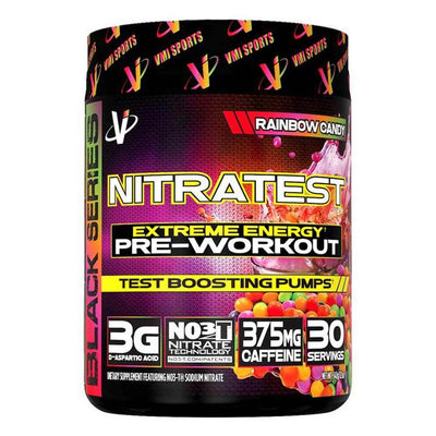 VMI Sports Nitratest 30 Servings Pre-Workouts VMI Sports Rainbow Candy  (4362722738241)